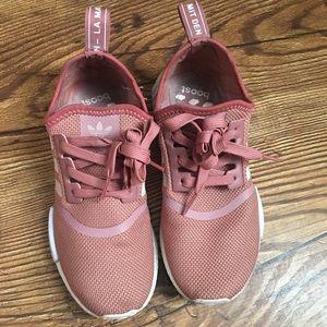 Women's Adidas nmd pink vapor